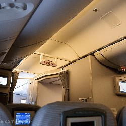on board of a jal plane